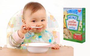 Cách pha bột ăn dặm Heinz